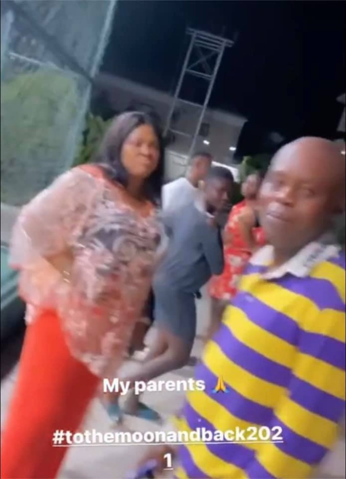 Regina Daniels shared video of her father and mother together