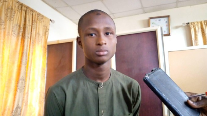 Kano Hisbah arrest young man who claimed he stopped praying and going to mosque after operatives shaved his hair for being 'unIslamic'