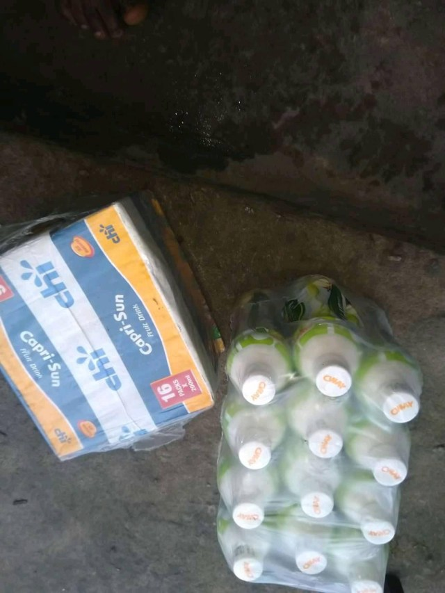 Mixed reactions as man is nabbed for allegedly stealing fruit juice and milk drink in Bayelsa