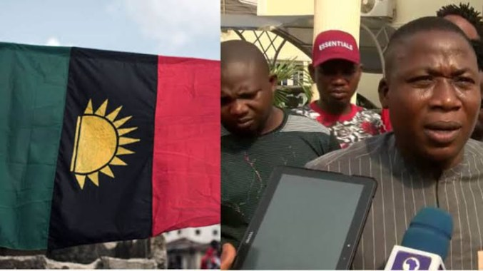 """""""Enough of this impunity, we are solidly behind Sunday Igboho"""" - IPOB condemns raid on Igboho's house"""