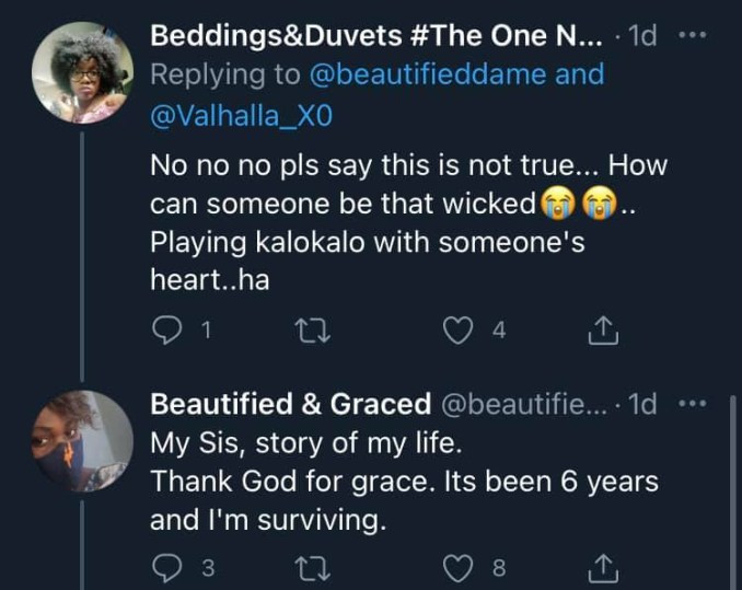 Lady narrates how her ex-husband opened up on not being in love with her but only married her over a bet 3