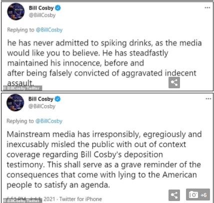 Bill Cosby denies