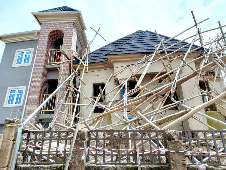 24 escape death as two buildings collapse in Anambra