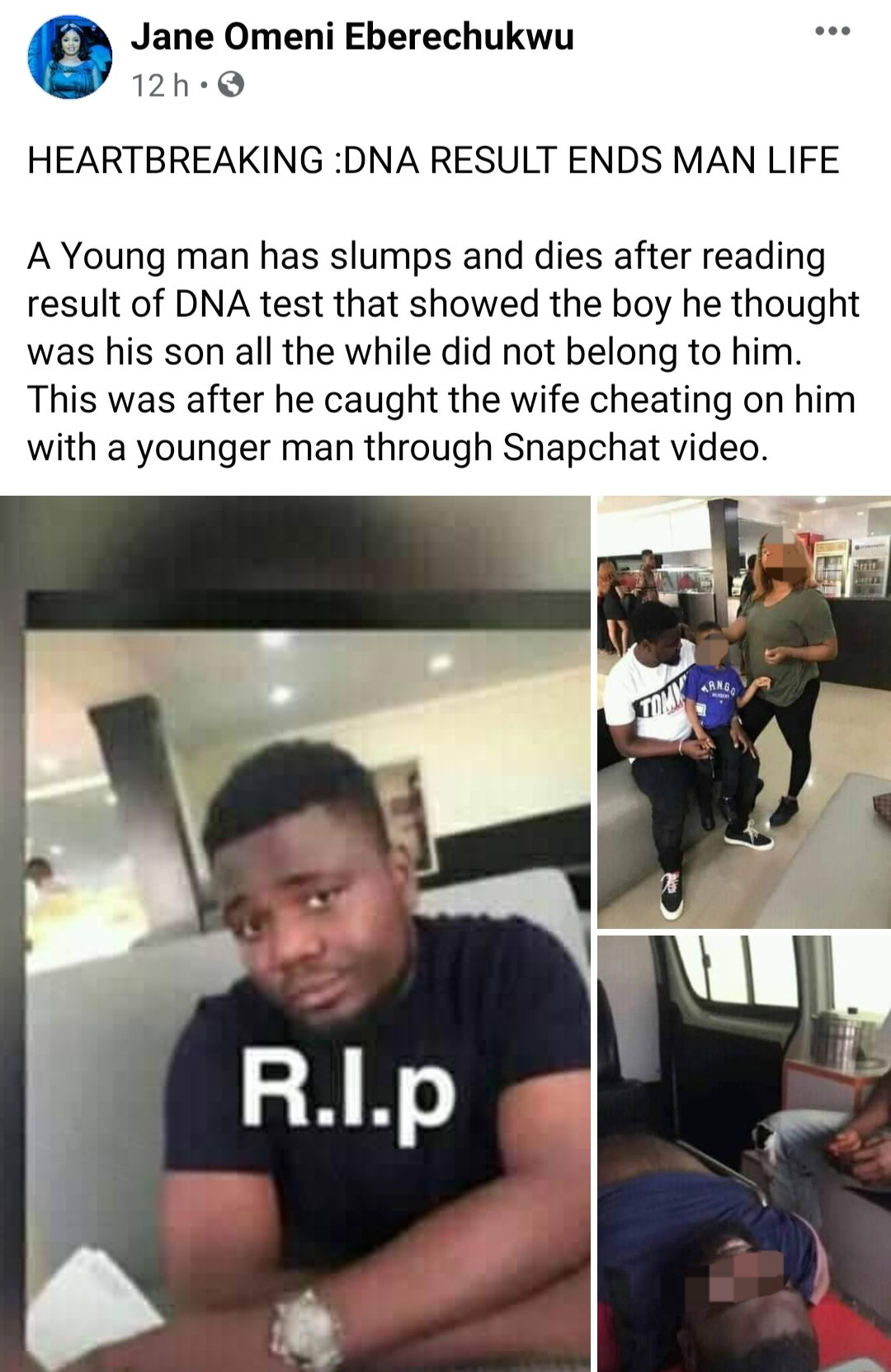 Reactions as man slumps and die after DNA test allegedly showed he