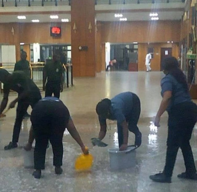 National assembly flooded again after heavy downpour (photos)