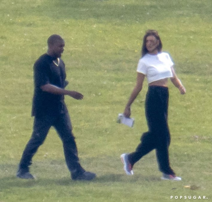 """Irina Shayk reportedly confirms she and Kanye West are """"just friends"""" and doesn"""