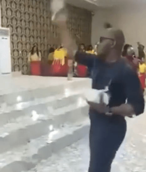 Video of suspected Nigerian drug baron, Tony Chidi Onwurolu spraying money in church surfaces after he was declared wanted by NDLEA