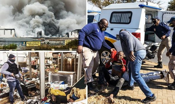 Looting and unrest in South Africa leaves 72 people dead and over 1000 arrested?