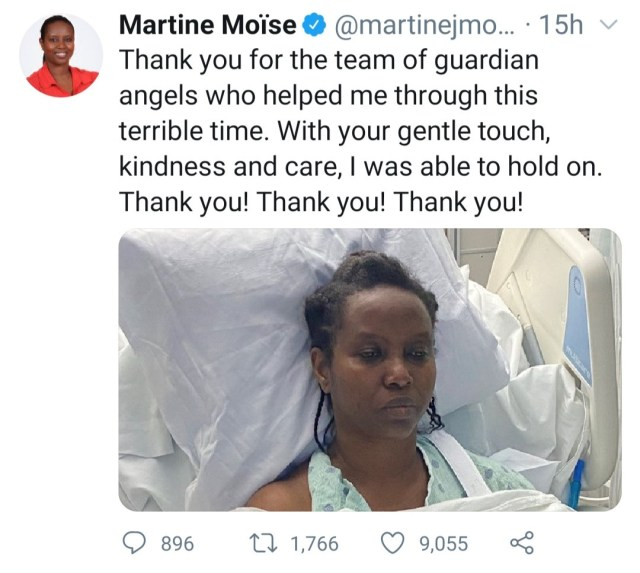 Haiti First Lady Martine Mo?se shares photos from hospital bed after attack as she mourns her murdered husband