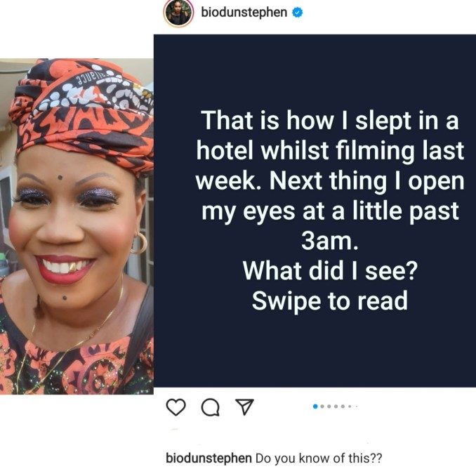Filmmaker, Biodun Stephen alleges EFCC officials with weapons broke into her hotel room in the middle of the night while she was asleep