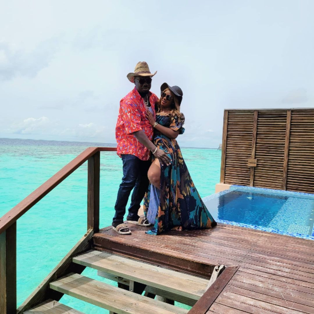 """Obi Cubana and wife vacation in Maldives Islands days after staging a """"talk of the town"""" funeral for his mum (photos)"""