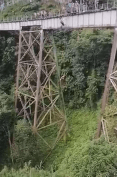 Woman bungee jumps to her death after thinking she