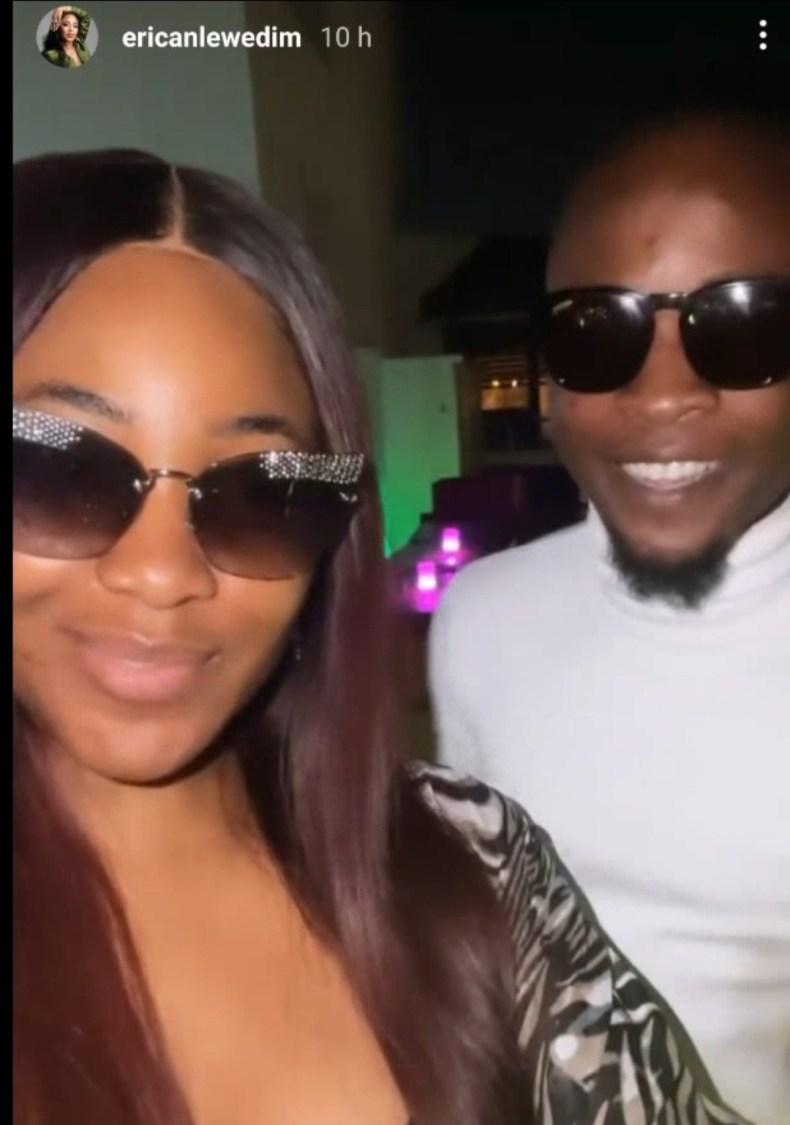 BBNaija stars, Erica and Laycon, finally make peace (video)