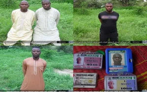 Boko Haram releases pictures of abducted soldiers and Yobe protocol officers