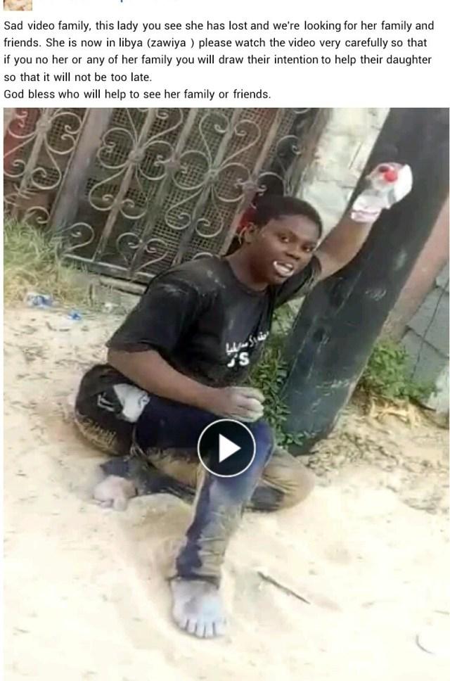 Nigerian woman reportedly runs mad in Libya (video)