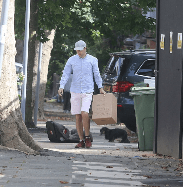 Former UK Health Secretary, Matt Hancock seen packing out of his marital home after video of him kissing his aide went viral