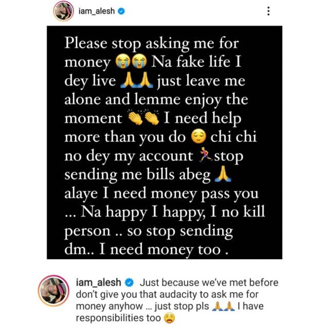 I?m living a fake life. I don?t have money- Nollywood actor Alesh informs people always begging him for money