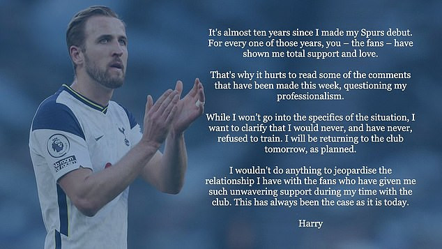 """""""It hurts""""- Harry Kane denies reports he has refused to return to Tottenham training amid ?150m rumored transfer to Man City"""