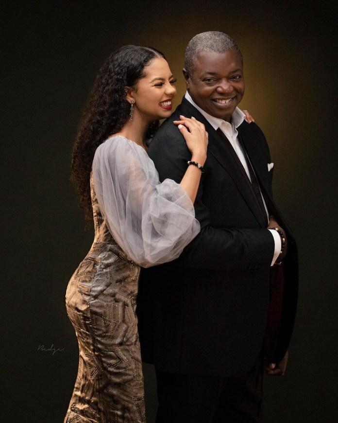 Billionaire daughter, Adama Indimi and husband, Prince Malik Ado-Ibrahim celebrate one year anniversary