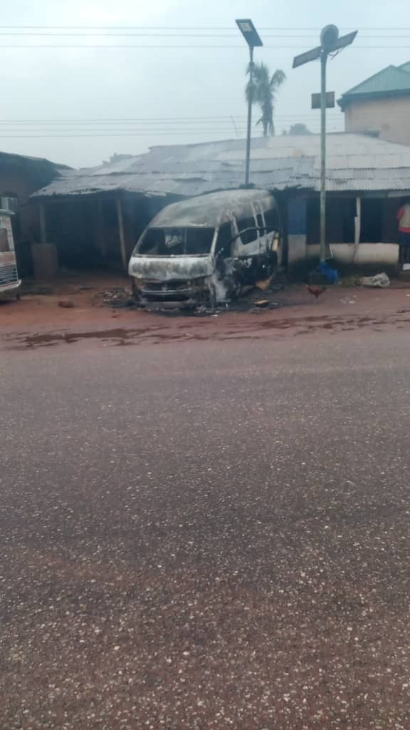 IPOB Sit-at-home order: Two feared killed and several cars destroyed in Nnewi (photos)