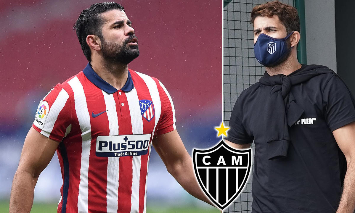 Former Chelsea star, Diego Costa 'verbally agrees one-year deal with Atletico Mineiro' after leaving Atletico Madrid