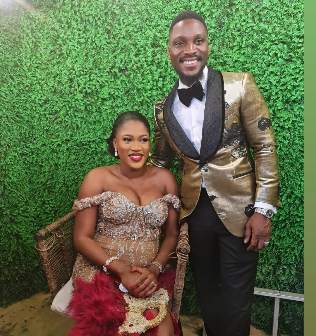 More photos and videos of Tobi Bakre and his woman, Anu Oladosu at their engagement ceremony