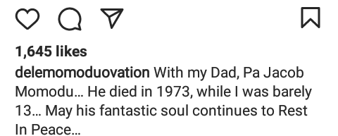 Dele Momodu shares photo of his late dad who died when he was just 13