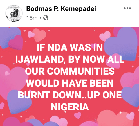 """""""If NDA was in Ijawland by now all our communities would have been burnt down"""" - Bayelsa Governor"""