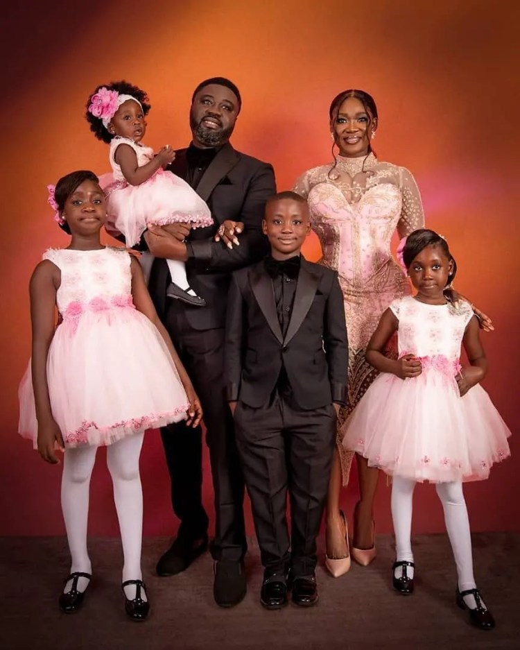 Mercy Johnson Okojie and her husband, Prince, celebrate 10th wedding anniversary with beautiful family photos