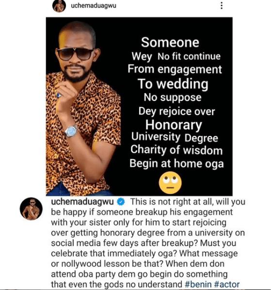 Broken engagement: Uche Maduagwu shades Alexx Ekubo