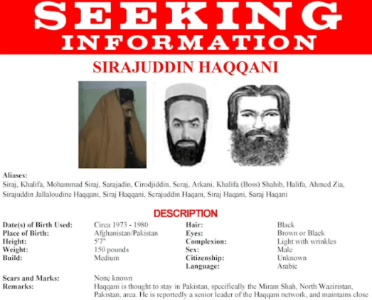 Wanted terrorist with $10 million bounty on his head named interior minister in Taliban