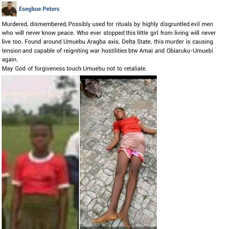 Teenage girl found dead with hands chopped off
