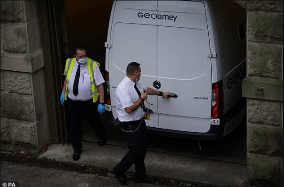 Footballer, Benjamin Mendy, 27, arrives at court in police van to face four rape and one sexual assault charge against three different women?(Photos)