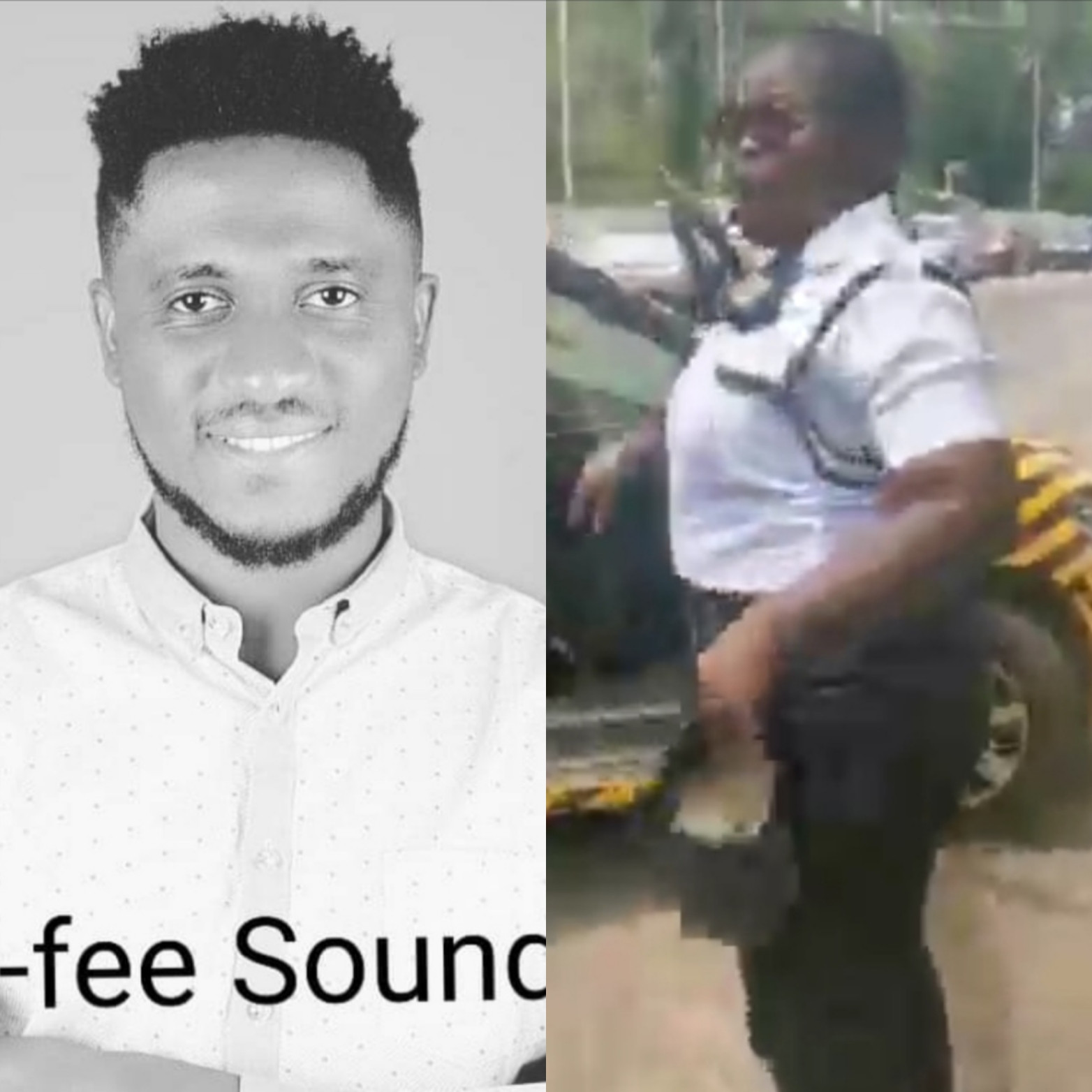Gospel singer I-fee Ajayi accuses VIO officer of assaulting him, his wife, and kids (video)