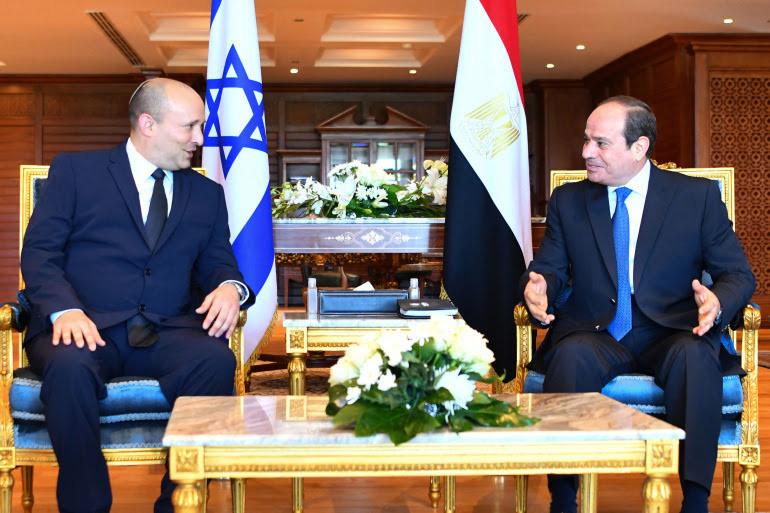 Israeli PM Bennett visits Egyptian president, the first…