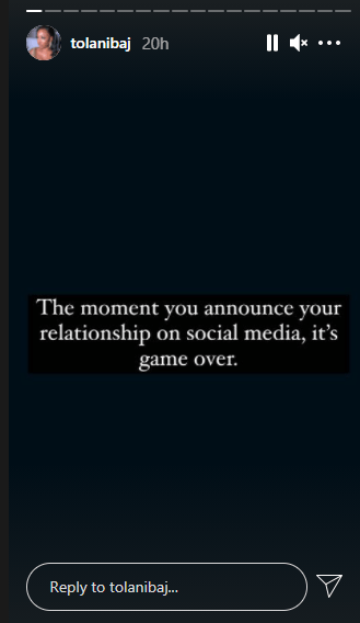 It's game over when you announce your relationship on social…