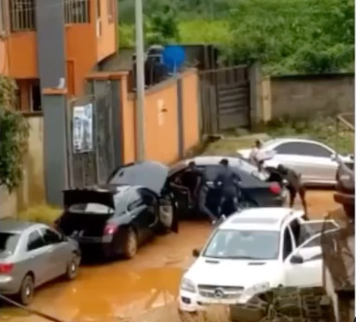 Horrific moment a man was dragged out of his car and shot dead in Anambra  (video)