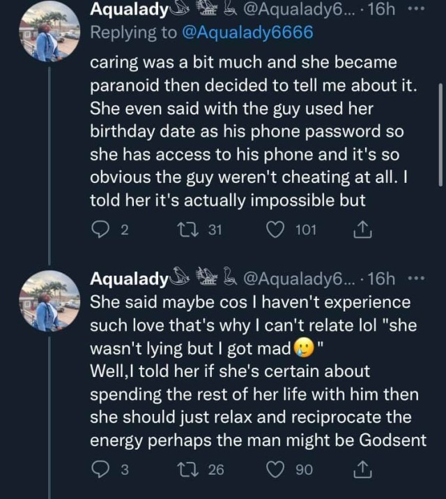 Lady narrates how her friend found out that her almost perfect boyfriend was gay