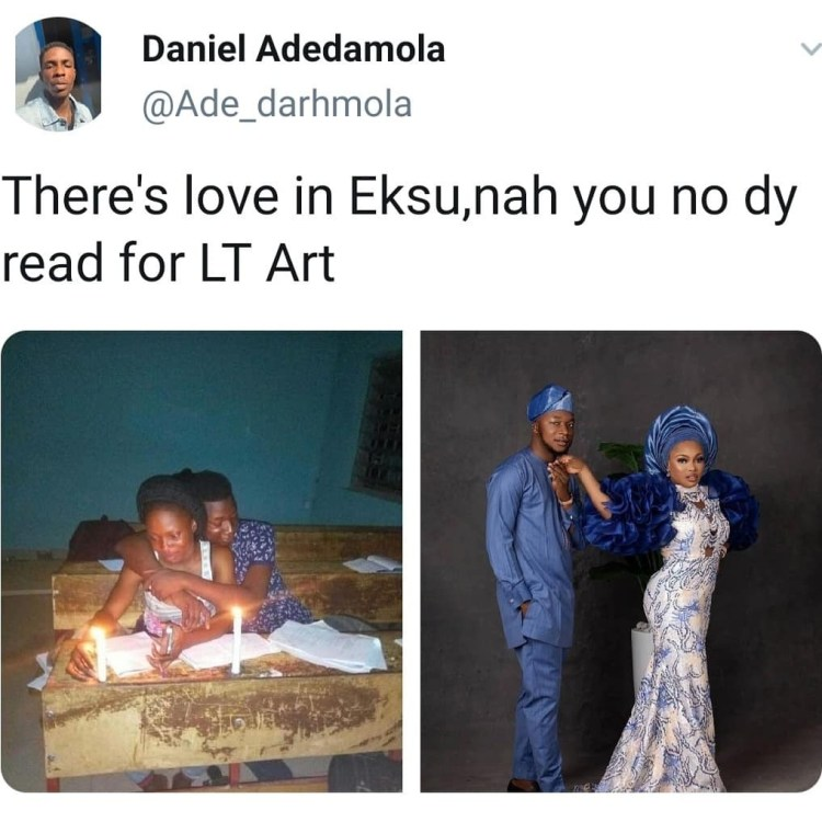 Ekiti State University students who used to read together wed after graduation