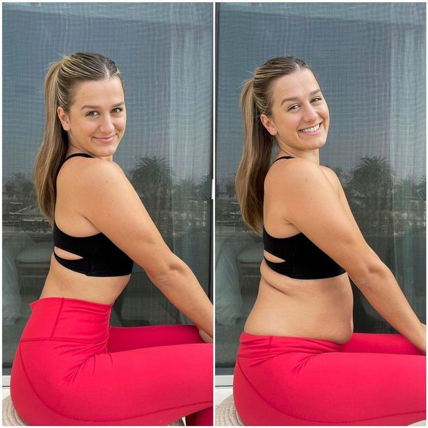 Fitness influencer shares side-by-side photos of herself to show how people can easily be deceived online