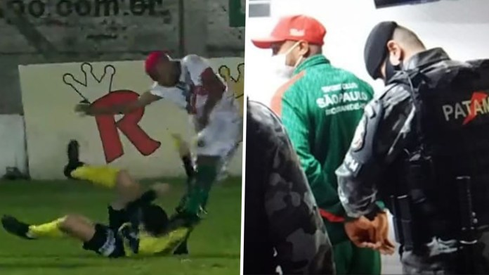 Update: Brazilian football player, William Ribeiro faces attempted murder charge for attacking a referee on the pitch