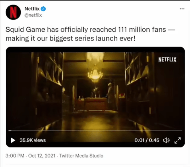 Netflix reveals Squid Game is the streaming service
