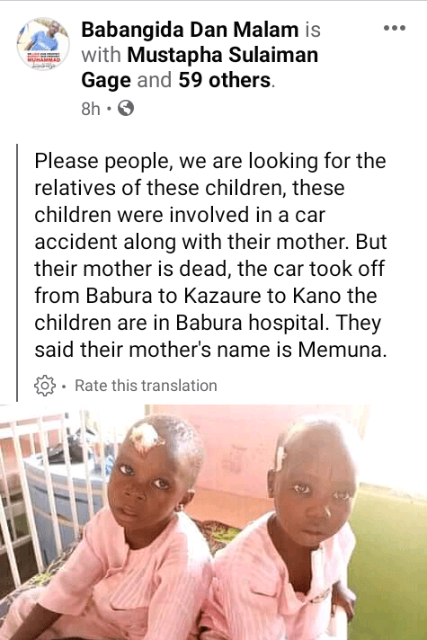 Two children survive fatal car crash that killed their mother in Jigawa