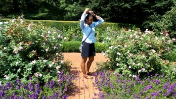 alexis chateau New York Botanical Garden travel jamaican woman in nyc
