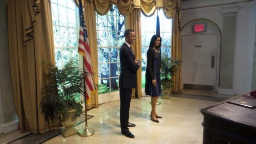 Obama and Michelle - Wax Museum - NYC