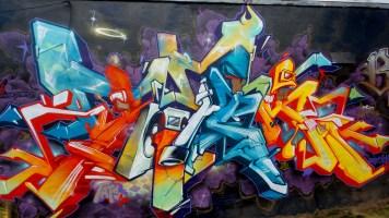 Graffiti at Little 5 Points inman park