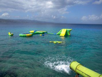 Slides at Margaritaville fun adventure beach travel jamaica