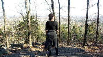 alexis chateau hiking trail kennesaw mountain - jamaican woman with dreads