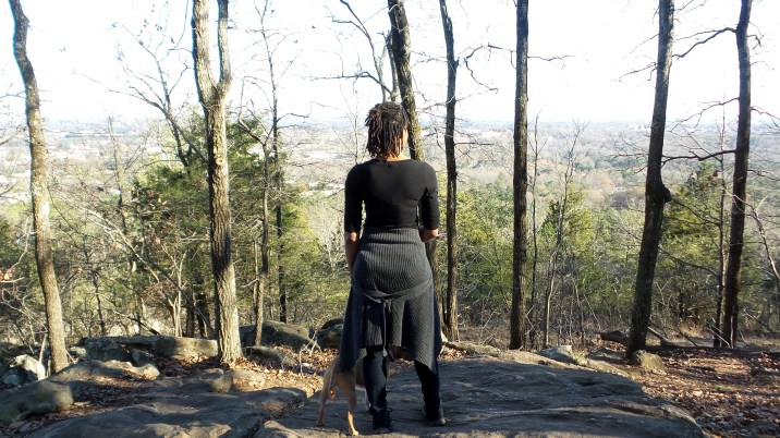 alexis chateau hiking trail kennesaw mountain jamaican woman with dreads