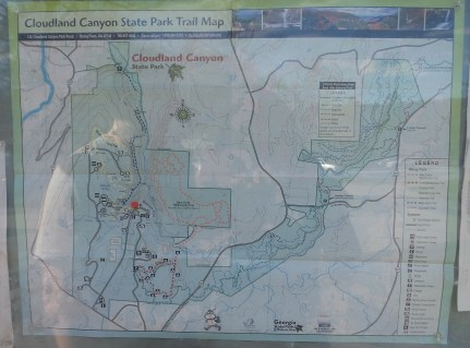 hiking trail map travel